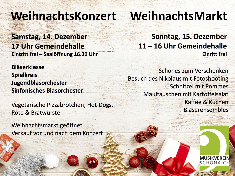 Weihnachtsmarkt und Weihnachtskonzert
